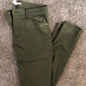 H&M High Waisted Olive Green Pants